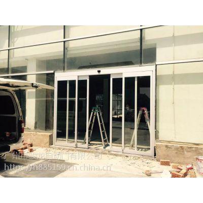 越秀维修电动玻璃门,感应门方案