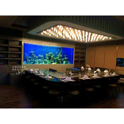 无锡鱼缸定制水景餐厅及各类高端餐厅玻璃鱼缸设计