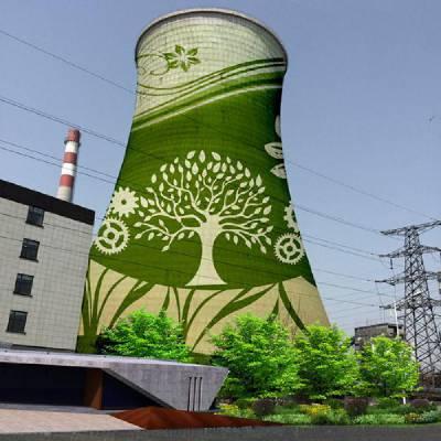 大同市电厂凉水塔绘画涂装美化-技术领先、专业施工