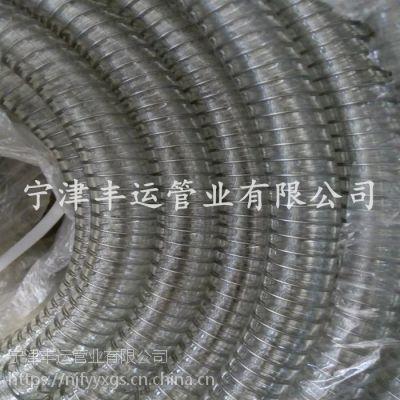 丰运新疆葡萄酒专用软管食品级钢丝软管PU透明钢丝软管无毒无味