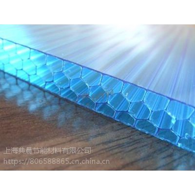 咸宁阳光板价格透明耐力板用途多层蜂窝阳光板U型锁扣板采光天幕性价比 典晨牌