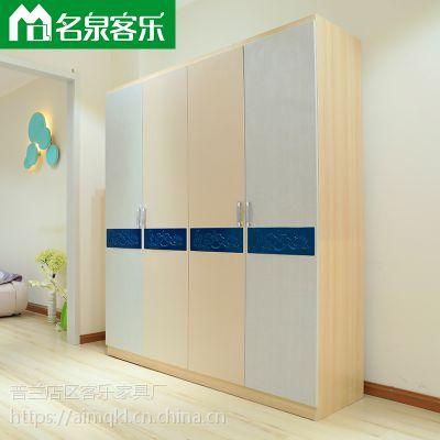 33522-21简约现代四门衣柜大连板式家具工厂直销