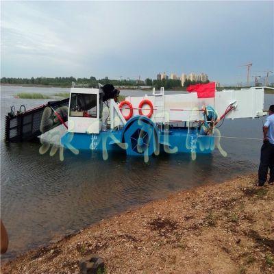 景区水草收割设备,天津河道水草打捞机械,水电站水面垃圾保洁船