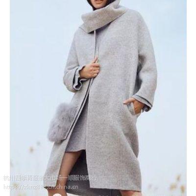 【百格丽】大码女装双面羊绒大衣100%换货折扣女装批发走份一手货源璐语诗淑女