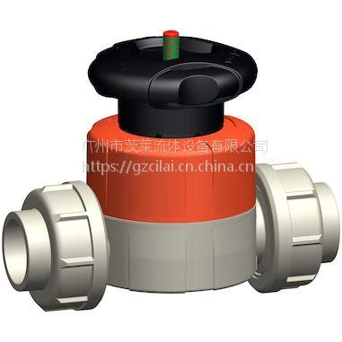 一级代理 瑞士+GF+ 手动隔膜阀 PPH 广州茨莱流体