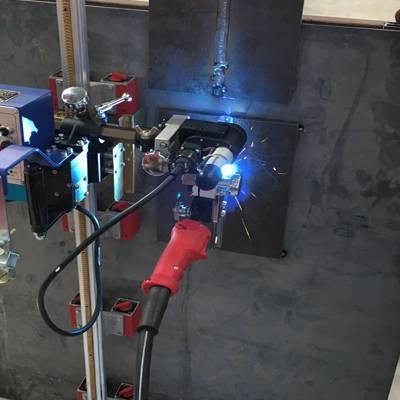 西安上海华威 HK-100K 直缝摆动式自动焊接小车 直线焊缝自动焊接小车带磁性导轨
