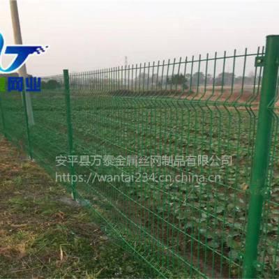 围果园铁丝围栏 绿色塑胶网栏 河北防护栏厂家