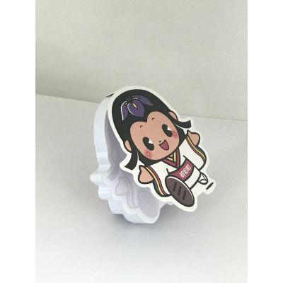 小女孩造型便签便利贴均可定做-东莞博艺印刷品