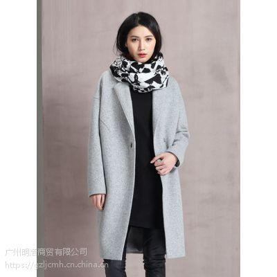 双面羊绒大衣品牌服装折扣货源 就到广州明浩