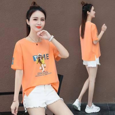 便宜女装短袖批发厂家货源 时尚新款女装短袖T恤批发小衫
