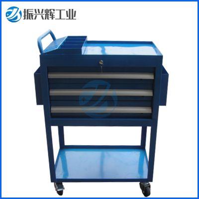 深圳五金工具车 三抽移动工具柜 车间工具推车定做