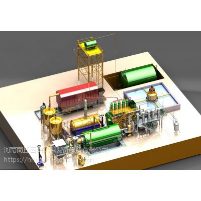 商丘四海供应废弃物炼油一体设备 生活垃圾分类处理炼化设备