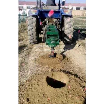 定制拖拉机挖树坑机 大型80公分钻眼挖坑机