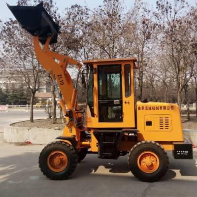 新款10型短途运输小铲车家用施工装载机1米铲斗工地四驱推土机 旭阳