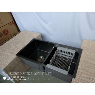 顺德祺居五金公司直供祺祥居不锈钢黑金刚纳米手工盆厨房手工水槽7843