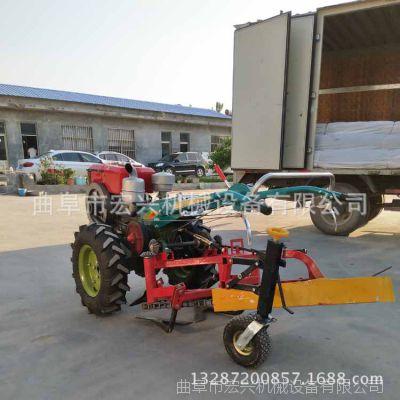 手扶带动红薯收获机 四轮带动土豆挖薯机 链条式刨薯机