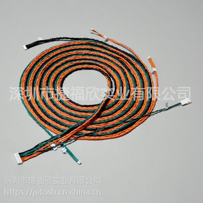 深圳线材加工厂来样来图加工信号传输线,冷压注塑工艺,符合美国UL认证,欧盟RoHS认证。