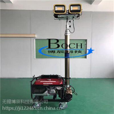 博辰FDJ-011发电机升降照明设备 电动升降杆 移动照明车