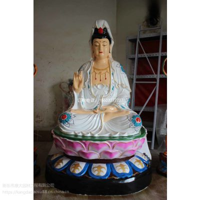 内蒙古康大雕塑呼和浩特康大雕塑制造观音童子玻璃钢雕塑