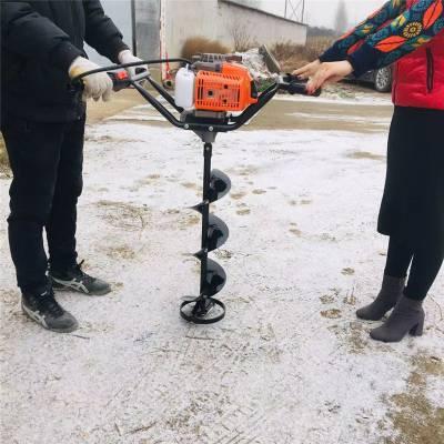大型拖拉机带挖坑机 单双人打坑机 质保汽油钻眼机厂家