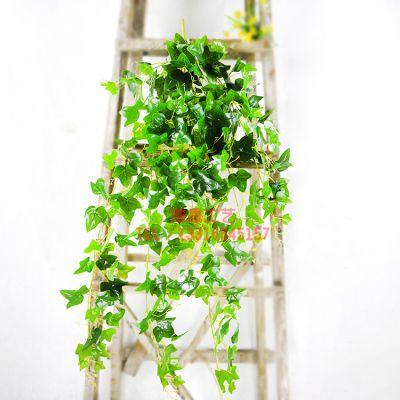塑料路绿萝壁挂 手感过胶叶 仿真度高自然垂体可批发 pe材质