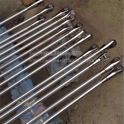 耀恒 金属建材304不锈钢拉杆锁头 玻璃雨棚拉杆锁头 幕墙配件定制