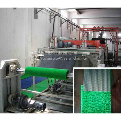 塑料草坪垫生产设备PE草卷材生产线