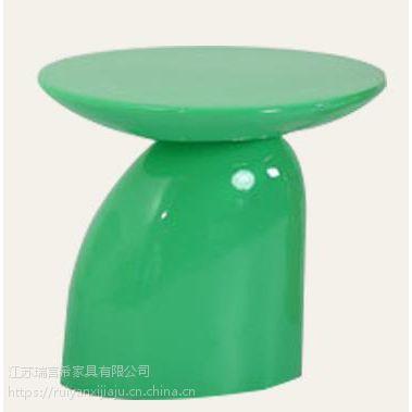 现代简约玻璃钢蘑菇小茶几 创意个性小矮桌洽谈桌