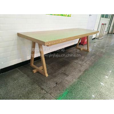 上海实木桌椅定制厂,简约现代快餐店面馆餐桌椅组合