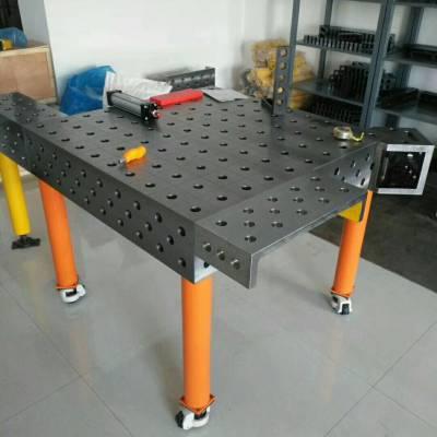 鼎旭量具 供应2500*1200mm铸铁检测平台 三维柔性焊接平台 销售电话15716866986