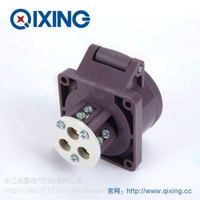 厂家直销启星QX610 16A 3芯 IP44 低压工业插座