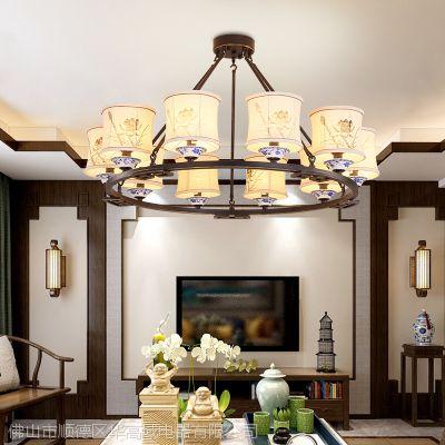 新中式吊灯华高域华丽简约客厅卧室吸顶灯