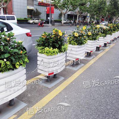 供应厂家直销市政道路中间隔离栏隔离带 绿化组合花箱 花盆铝合金