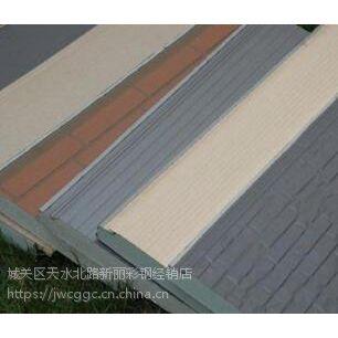 供甘肃陇南金属面保温装饰板和白银七彩板报价