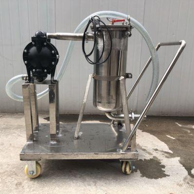 不锈钢气动泵过滤机 加压过滤 固液分离