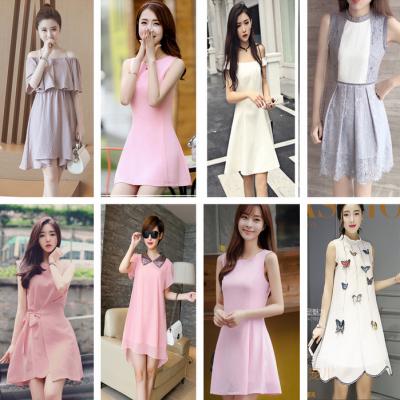 哪里批发连衣裙夏季女士连衣裙批发韩版时尚女装雪纺裙批发