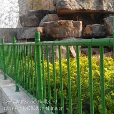 山西Q235HC仿竹节篱笆栅栏,烤漆围墙护栏生产基地,竹节管喷塑围栏