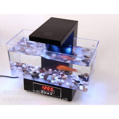 亚克力生态宠物桌面鱼缸水族箱USB迷你小鱼缸