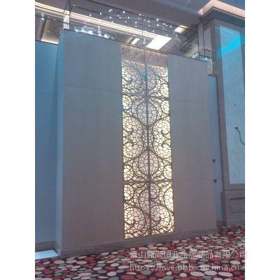 定制不锈钢古典玫瑰金座屏屏风 鼎尚恒业金属制品屏风厂家