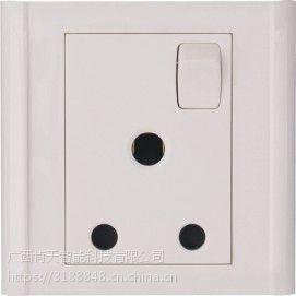 朗微(国际)电工畅想系列一开三孔圆插座