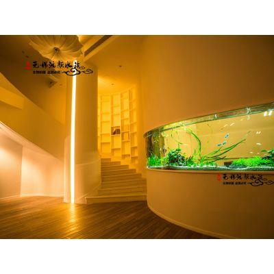 苏州定制别墅弧形鱼缸生产厂家玻璃亚克力