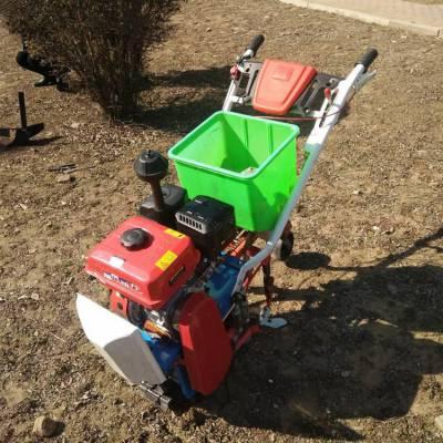 真品直销温室大棚耘地机汽油轮式小型玉米播种机手扶施肥机