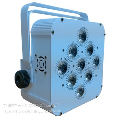 9x18w无线帕灯 充电帕灯 九眼无线帕灯RGBWAUV六合一帕灯