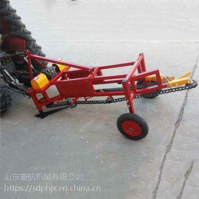 普航拖拉机带花生收获机 皮带式条铺花生起获机 起果机报价
