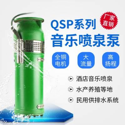 QSP喷泉专用潜水泵 QSP65-25-7.5kw 卧式安装喷泉泵