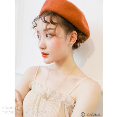 2017新款几何形韩国风金色复古镂空耳钉简约个性时尚锆石花朵耳环