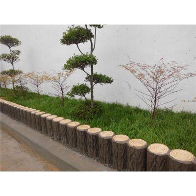 水泥仿木栏杆 景观栅栏 仿木纹围栏 仿树皮安全护栏