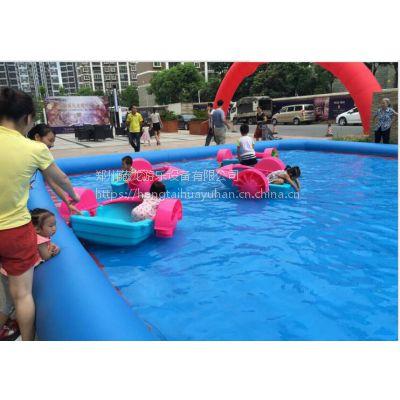 配套游泳水池亲子船手摇船 母子双人手划船游乐设备 中号手摇船怎么批发