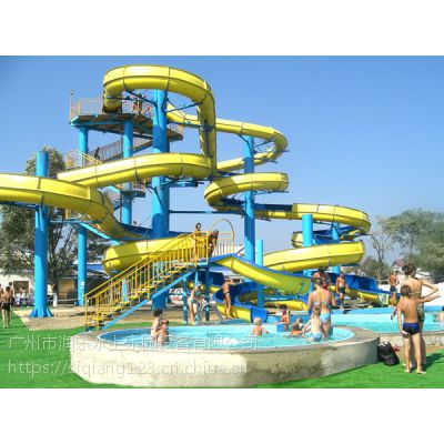 广州润乐水上设备-螺旋滑梯