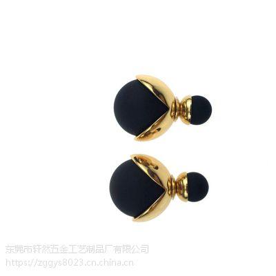 明星同款热卖珍珠耳钉 双面大小珍珠耳钉 耳饰 小饰品 厂家批发
